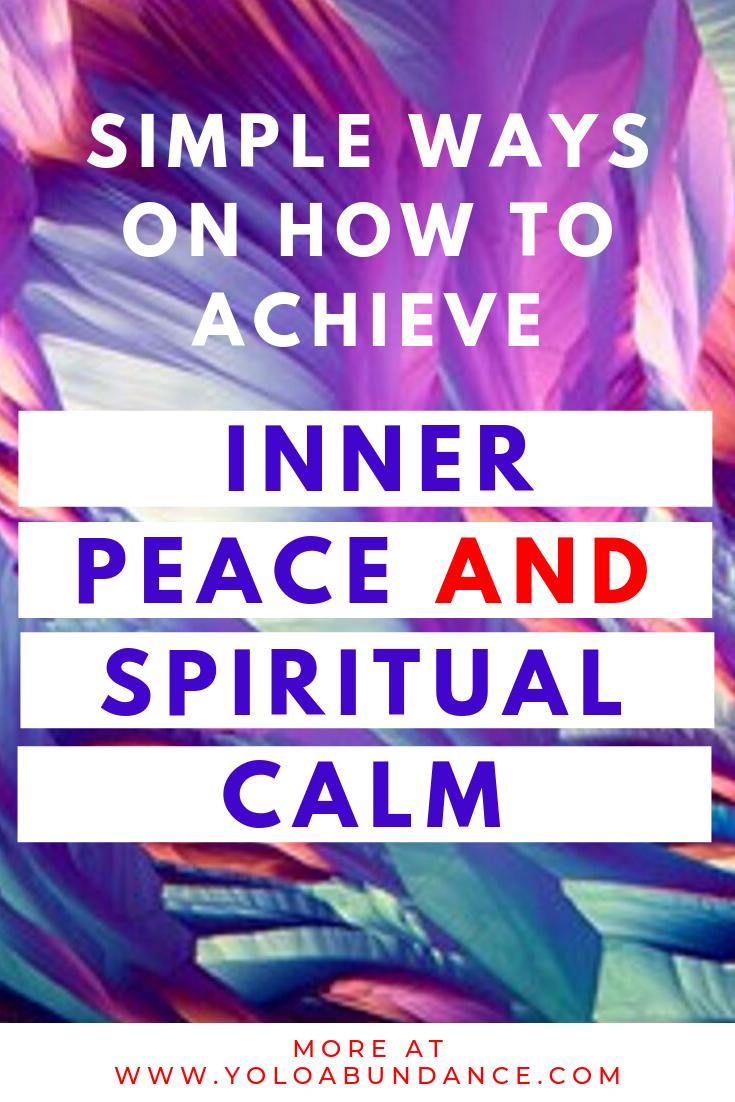 Spiritual Calm | yoloabundance.com