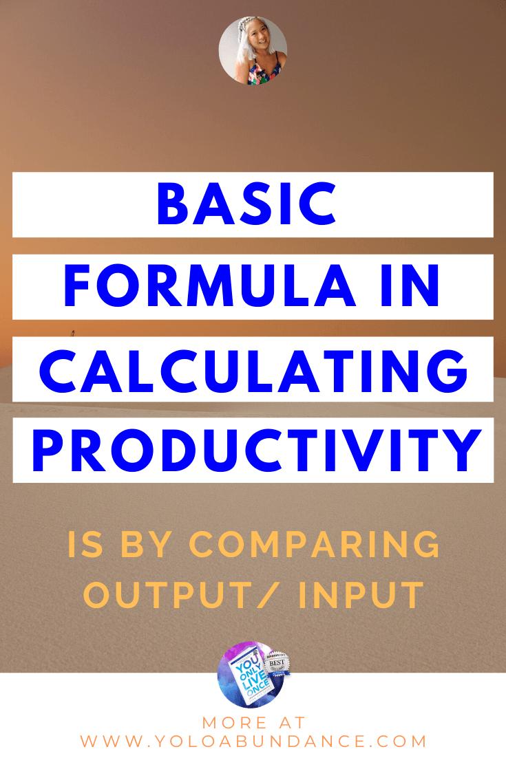 calculating productivity | yoloabundance.com