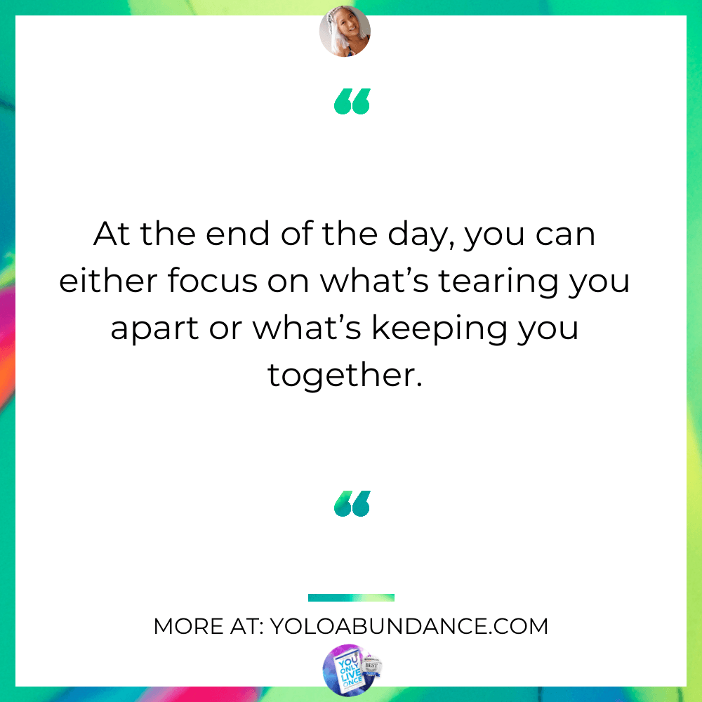 Focus on what you love | yoloabundance.com