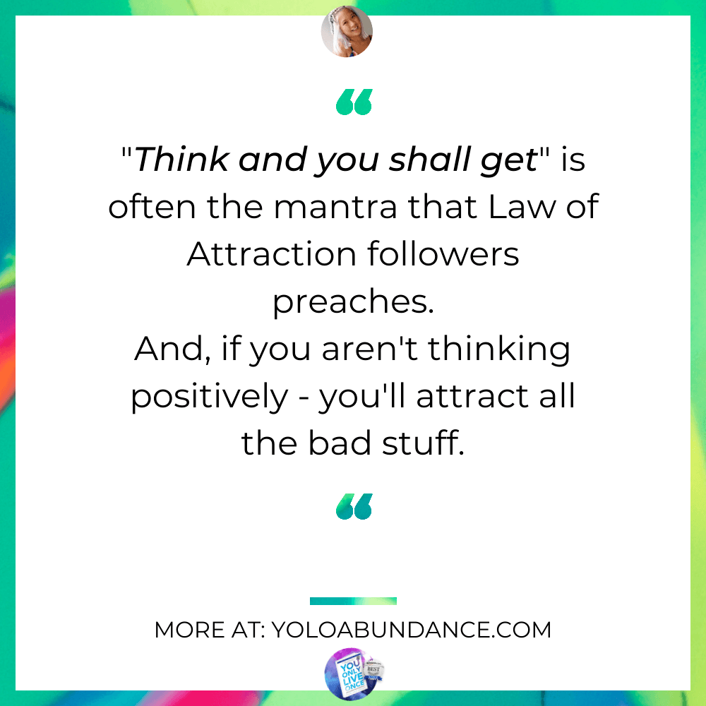 Law of Attraction Quote | yoloabundance.com